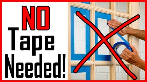 paint french doors without tape