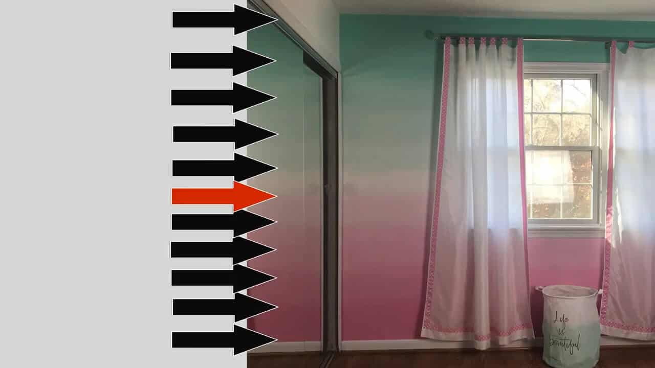 how to paint a ombre wall