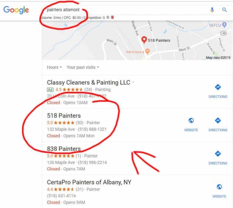 google maps 518 painters