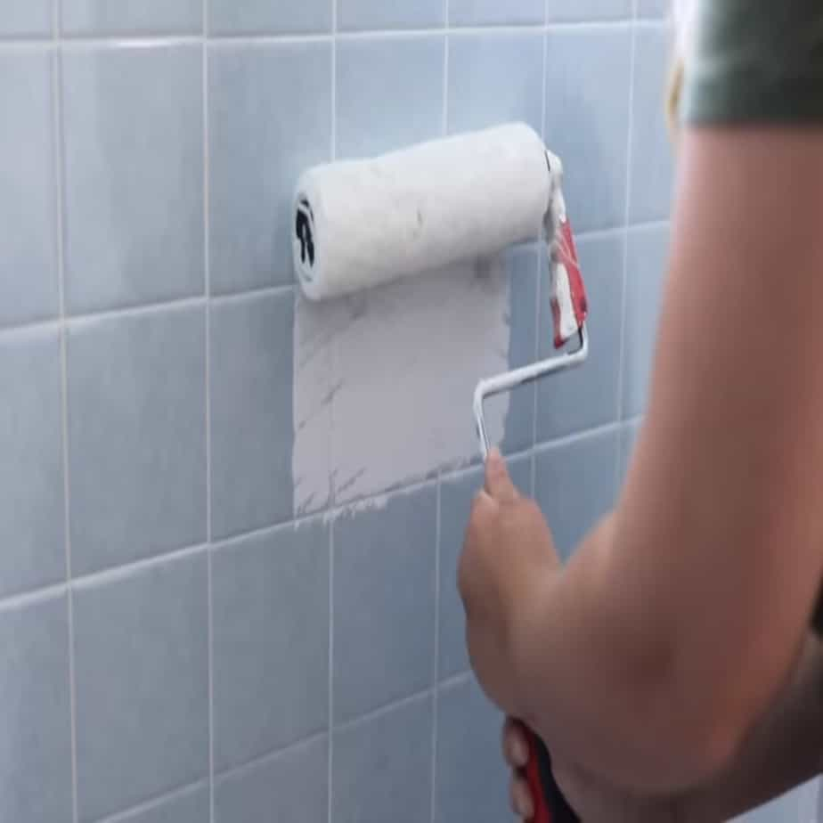 how to paint over tile