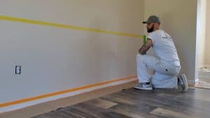 how to paint straight lines and stripes on walls