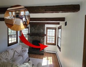how to paint wood paneling white before and after