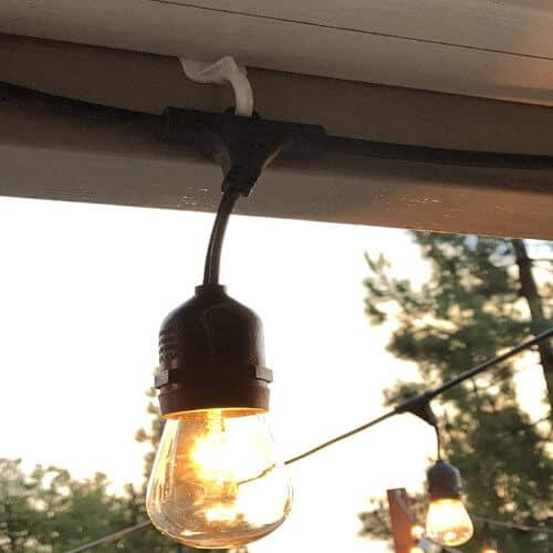 string Lights adhesive hooks